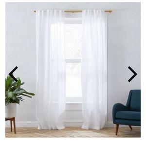 West Elm linen curtains